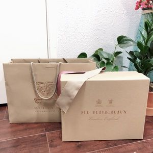 Authentic Burberry Gift Paper Bag & Box